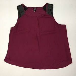 Torrid Top Size 3 Faux Leather Sleeveless Shirt